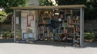 'Book stop' - bus stop converted into a free book swap shop